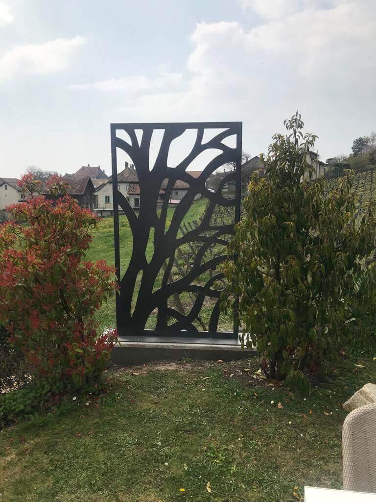 Panneau décoratif motif arbre découpe au laser