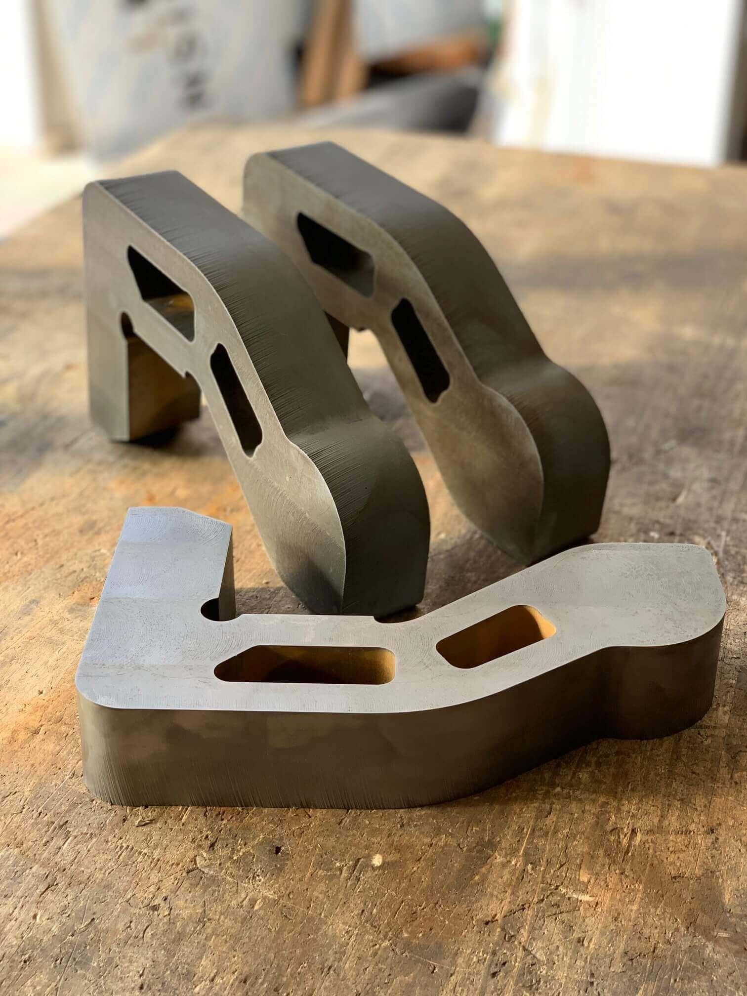 Waterjet cutting of steel